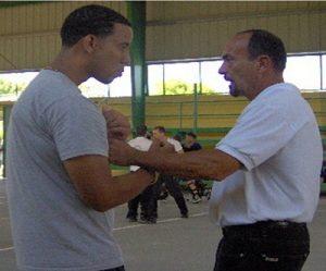 Sifu Ramon Diaz with student Wing Chun Kung Fu
